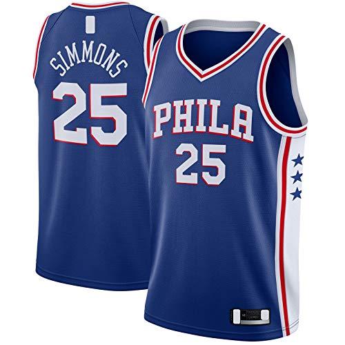 SDAFSA Camiseta de baloncesto para hombre de malla #25 Swingman Jersey Royal - Edición Icono
