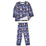Pijama familiar a juego – Ropa de Navidad clásica con alce, suave pijama de Navidad a juego para familia, Para niños.,...