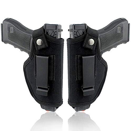 Flychen Concealed Carry Holster, Universal Holster, Inside The Waistband Bundle, Holster for Female/Male Fits S&W, M&P Shield/Glock 23,36,39,42,43/Ruger LC 9, Similar Handguns, Black