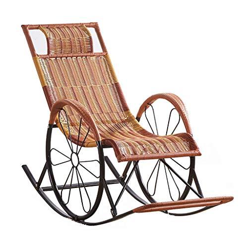 Liege im Freien Rattan Sunlounger Brown Liege Zero Gravity Recliner Sun Loungers Stuhl Relax Schaukelstühle Garden Recliner Sunbed Sling Chair für Patio Living Room