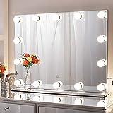 Chende Hollywood Espejo con luz, Espejo de Maquillaje con iluminación, tamaño Grande par...