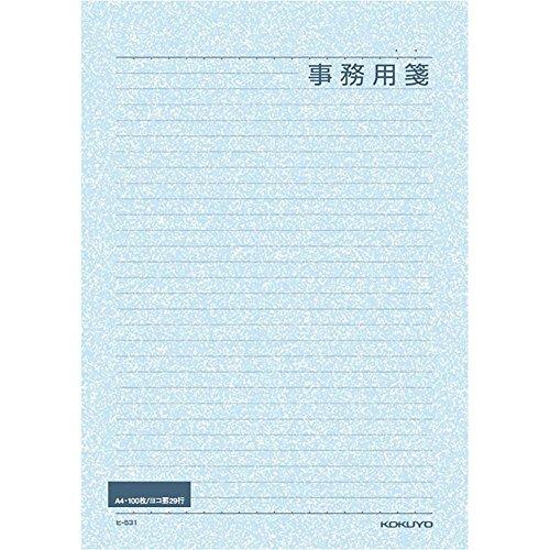 コクヨ 事務用箋 A4 横罫29行 上質紙 100枚 ヒ-531N / 5セット