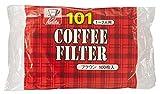 カリタ Kalita コーヒーフィルター ブラウン NK101濾紙 1~2人用 100枚入り #11107