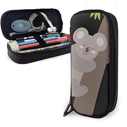 Leuke Koala slaapzak PU lederen tas opbergtas draagbaar student potlood schrijfwaren tas multifunctionele tas
