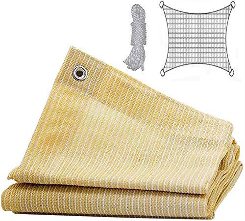 SKYWPOJU Paño de la sombrilla de la Tela de la Sombra del 90% con los Ojales para el toldo de la Cubierta de la pérgola, Trigo (Color : Beige, Size : 3x4m)