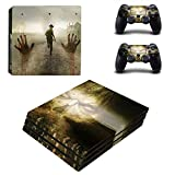 AMALA NAIDU PS4 Pro Whole Body Vinyl Skin Sticker Decal Cover for Playstation 4 System Console and Controllers – Zombie