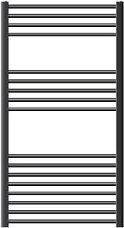 ECD Germany Sahara Radiador calentador - 750 x 1200 mm - Antracita - Curvado - Con conexión lateral - Radiador calentador de toallas - Radiador de baño - Radiador calefactor de baño - No eléctrico