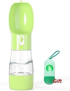 """Dog Water Bottle Upgraded Pet Water Bottle Lightweight Dog Travel Water Bottle 2.76"""" Big Trough Leak Proof Pet Drinking Bo..."""
