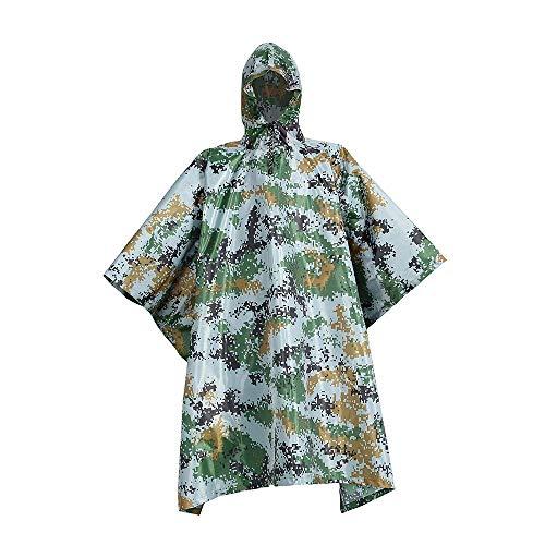 AXIANQI Poncho Antipluie Camouflage À Capuchon Imperméable Lâche Poncho Auvent De Sol Multi-Fonction Adapté Aux Activités De Plein Air A (Size : A)