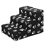 Pet Steps/Stairs with Washable Cover for Small Medium Large Dog Cats Easy Step III Pet Stairs for High Beds Home Base (Color 2)