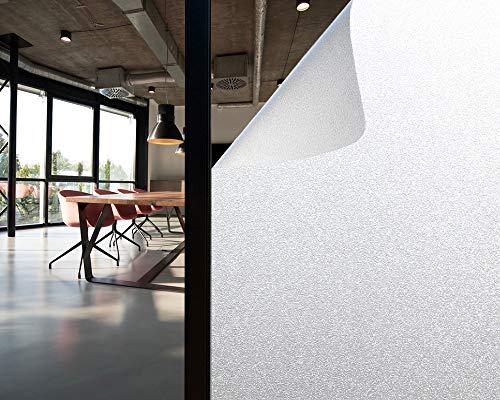 Olliwon Vinilo Cristal Ventana 60 x 200cm Película para Ventanas Privacidad Vinilos Opaco Decorativos Autoadhesivo No Adhesivo Reutilizable para Cocina Habitación Baño