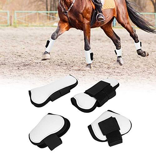 4PCS Protector de la pierna del caballo Botas delanteras de la pierna del caballo Botas de pie de tendón para montar a caballo Pony Amortiguador de choque Competencia de salto Salto Protección de la p