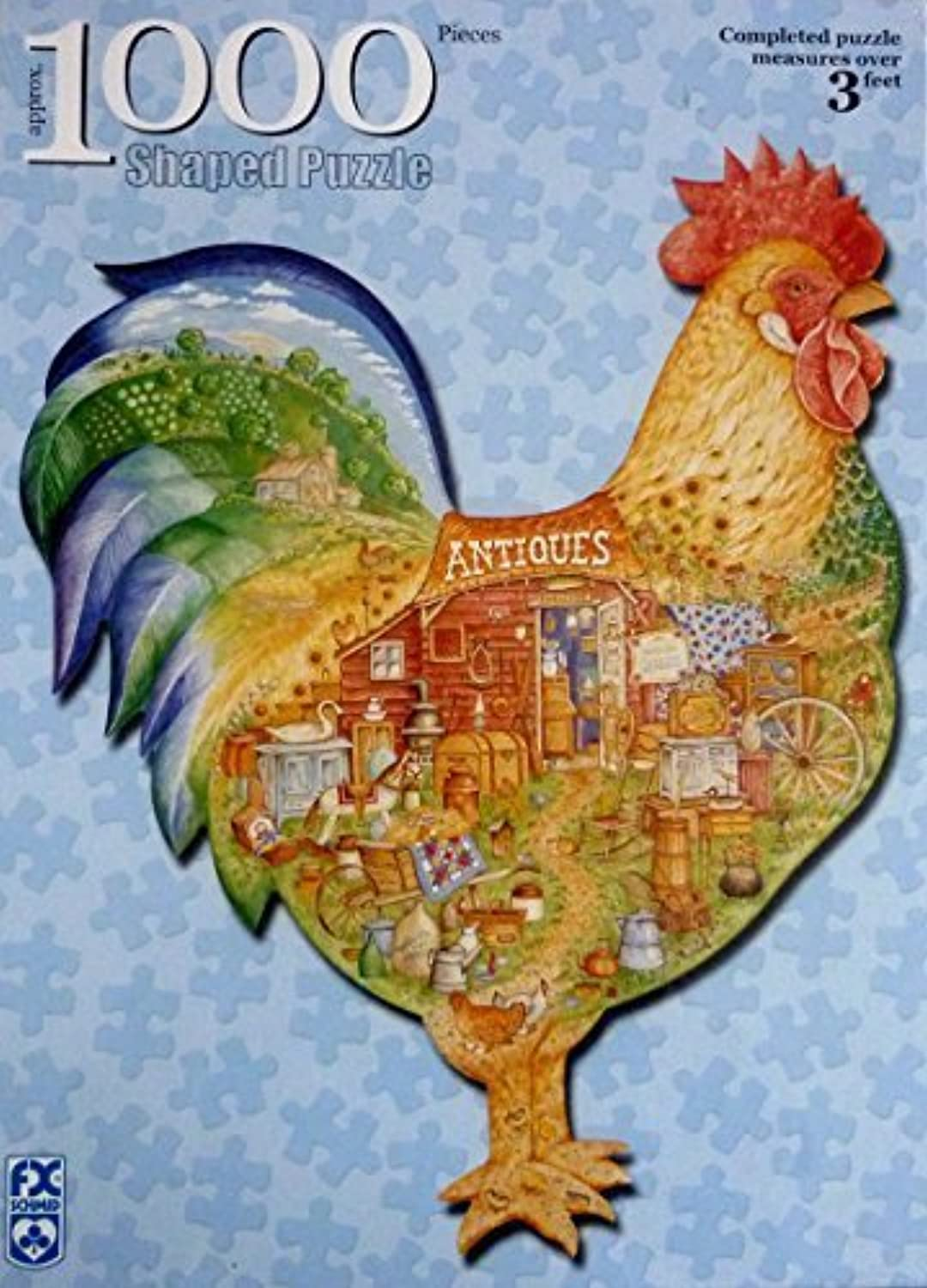Schmid 1000 Piece Antiques Rooster Puzzle by American Puzzles