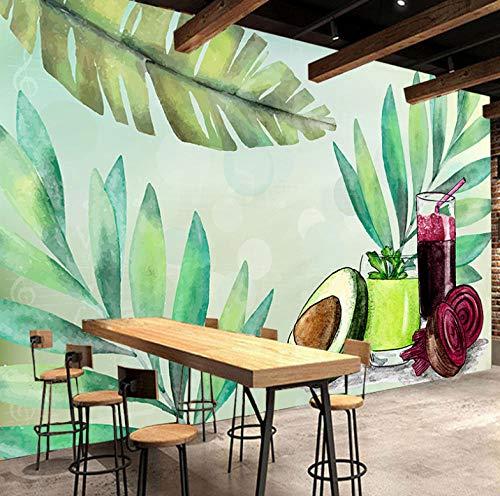 Modern 3D-fotobehang van vlies, decoratie voor op kantoor, slaapkamer, salon, HD-canvas, sap en groente 350x250cm