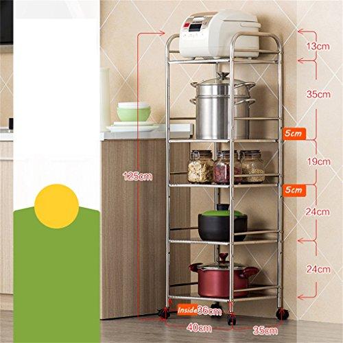 Unidad de estantería de 5 estantes | Heavy Duty Stainless Steel Kitchen Supplies Almacenamiento Rack Horno de microondas rack | Supreme Standing estantería de estantería de alambre | Estante de los ar