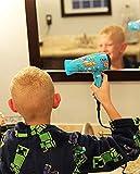 Deogra 1000 Watt Reiseföhn für Kinder Süß Dinosaurier Design Klein Haartrockner Klappbar Dual Spannung Fön mit Diffusor für Locken, Tragbar Aufbewahrung Beutel für Reise Blau - 7