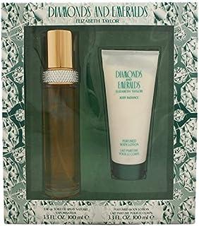 Diamonds & Emeralds By Elizabeth Taylor For Women. Set-EDT Spray 3.3 Ounces & Body Lotion 3.3 Ounces