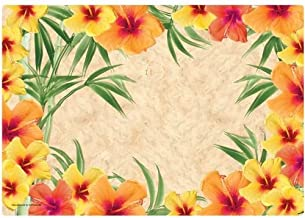 Hibiscus Placemats Paper 50 Pack