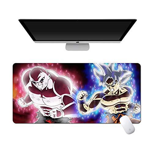 Extragroße Mausunterlage, Dragon Ball Anime Groß Mauspad Wasserdicht Weich rutschfest Gummibasis Nähte Notebook Computer Büro Desktop Tastaturpad-800X300X5Mm(31,4X11,8X0,2 Zoll)_019