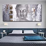 Buddha Statue Canvas Paintin Large Modern Buddha Canvas Painting for Living Room Wall Art Prints Poster Artwork 80x160cm(31'x63') Unframed