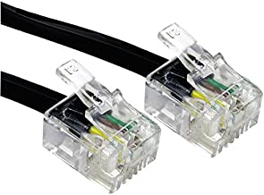 Modem Lead RJ11 6P4C 20M Black Cable Length - Imperial 65.62ft Cable Length - Metric 20m Connector T