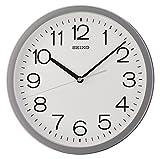 Seiko - Reloj de Pared Redondo con Funda, plástico, Gris, 32.3 x 32.3 x 5 cm