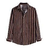 Camiseta de manga larga para hombre, para el tiempo libre, para el otoño, tallas grandes, cálidas, cómodas, ajustadas, térmicas, de mezclilla, de manga larga, 03-marrón, S