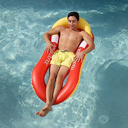 JCT Pool Hängematte für Erwachsene Aufblasbare Pool Lounger Wasserhängematte luftmatratzen Liege Wasser Bett Floating Lounge Stuhl Schwimmbad Wasser Schwimmliege (160X84CM, orange)
