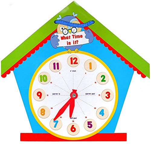 Enfants Learn To Tell The Time Éducationnel Maison Forme Horloge