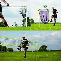 QUICKPLAY ポータブルサッカースキルセット | 4イン1 ポータブルサッカートレーニングセット トレーニングセッションを最大化