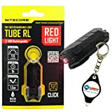 Nitecore Tube-RL Red Light Tiny USB Rechargeable LED Light 13 Lumens w/Lightjunction Keychain light (Tube-RL)