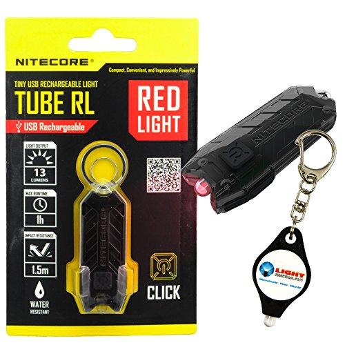 Nitecore Tube RL UB Rechargeable Keychain Red LED Flashlight