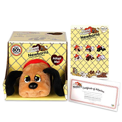 """Basic Fun Pound Puppies Newborns - Classic Stuffed Animal Plush Toy - 8"""" - Brown with Dark Brown Spots - Great Gift for Boys & Girls"""