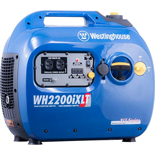 Westinghouse WH2200iXLT Super Quiet Portable Inverter Generator - 1800 Rated Watts and 2200 Peak...