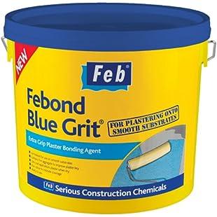 Feb Febond Blue Grit Extra Grip Plaster Bonding Agent 10L
