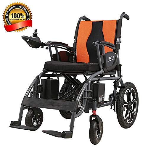 EMOGA Tragbar Elektrischer Rollstuhl Leicht Faltbar intelligent Komplett automatisch 4 Räder Elektrorollstuhl fur Alter Mann Deaktiviert Li-Ionen-Akku Ausdauer 15-18 km