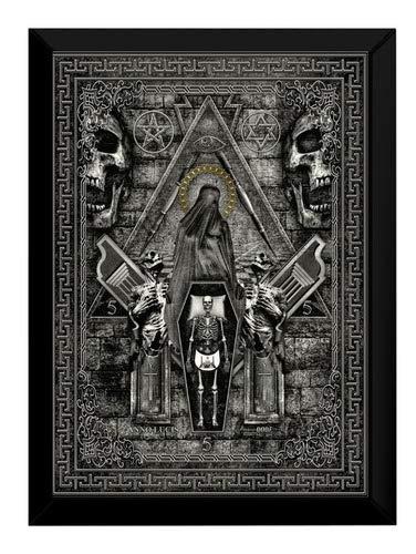 Quadro Decorativo Ocultismo Sociedade Secreta Ma?onica 42x29
