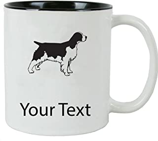 Personalized Custom English Springer Spaniel 11 oz White Ceramic Coffee Mug with White Gift Box