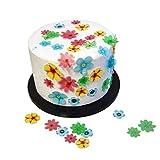 Cassiny Fiori in carta di riso, ideali come decorazioni superiori per torte e biscotti, confezione da 24