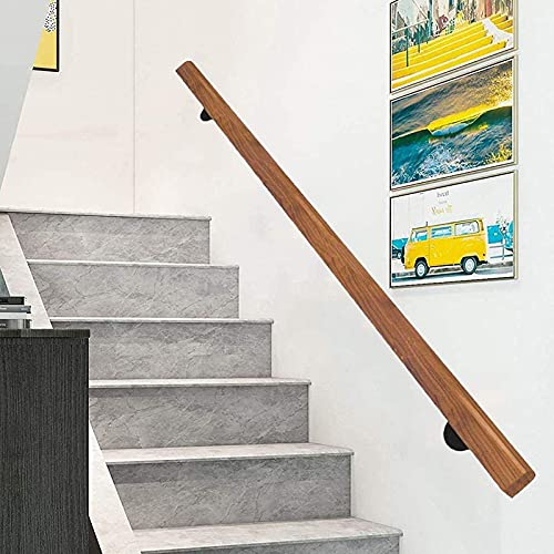 QDY-räcken Trätrappstångsräcken (1ft-20ft), halkskyddad trappräcke, greppsats, hemsida inomhus äldre räcken korridorstöd (storlek: 4ft / 120cm)
