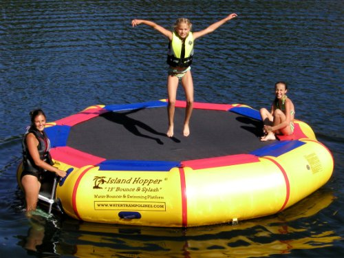 Island Hopper 13' Bounce N Splash Padded Water Bouncer