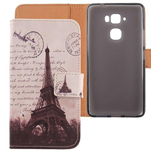 Lankashi PU Flip Leder Tasche Hülle Hülle Cover Schutz Handy Etui Skin Für Medion Life X5520 MD 99657 5.5