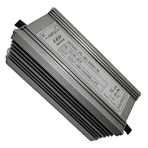 perfeclan Fuente de Alimentación de CC LED Driver Luz Solar 80Watt 2400mA Concepto Ergonómico Profesional