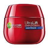 GARNIER Ultra Lift Complete Beauty straffende Anti-Falten Nachtpflege /Anti Aging Creme mildert Falten, strafft Haut , (300ml (6x50ml)