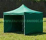 Faltzelt Faltpavillon 3x3 Grun Partyzelt Pavillon PVC 350g m Seitenteile mit 4 Seitenteilen Partyzelt Pavillon Verkaufszelt wasserdicht