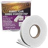 STORMGUARD 05SR6843053W - Burlete de sellado de espuma de goma, color Blanco, 19x11x3050 mm