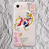Anime Pixel Case Inspired by Sailor Moon Venus for LG G5 G6 Google Pixel 3 3a XL 2XL 3XL 2 XL Cute Floral Pink Flowers Phone Case for Women Girls Gifts Silicone TPU Clear Cover