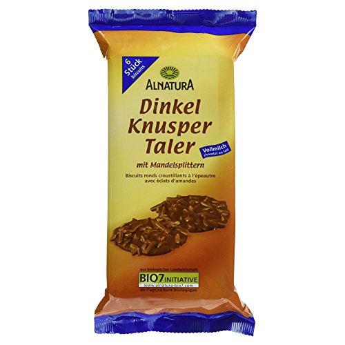Alnatura Bio Dinkel-Knuspertaler, Vollmilch, 6er Pack (6 x 100 g)