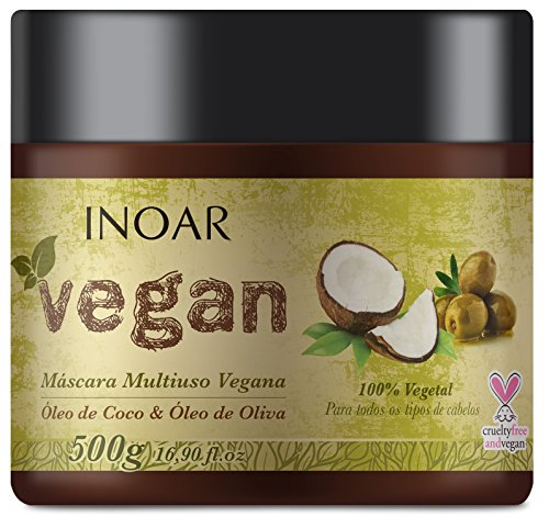 Inoar 50211 - Máscara Vegan com Óleo de Coco e Oliva 500g
