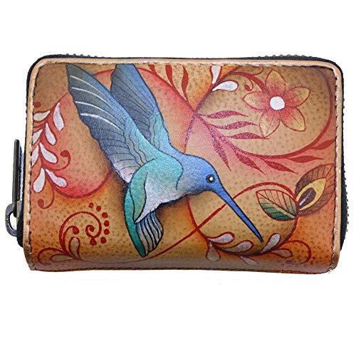 Anuschka Women's Credit Business Card Holder Fjt, Flying Jewels Tan, One Size